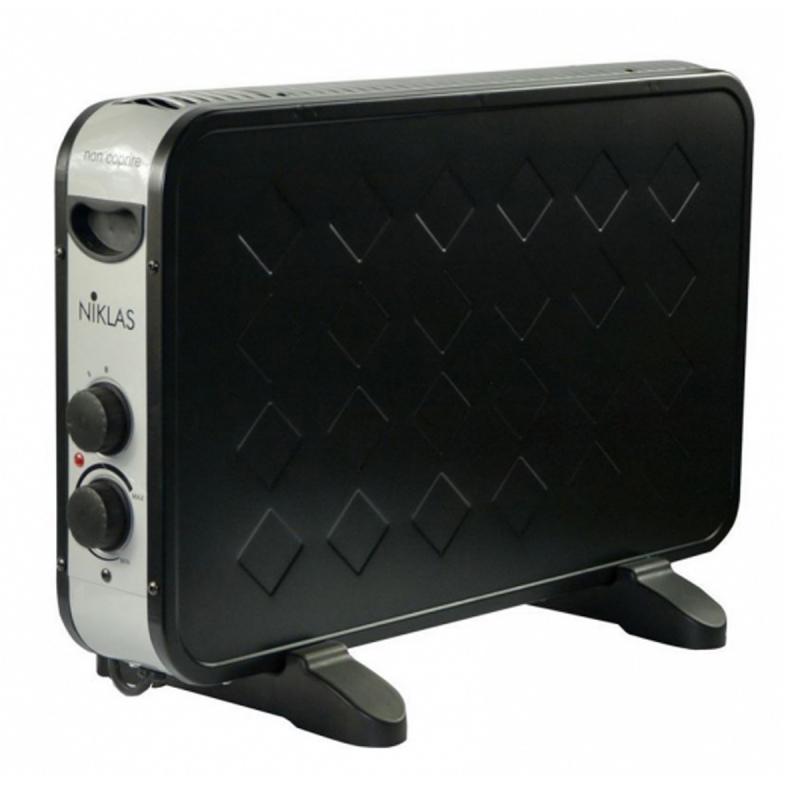 radiateur electrique d 39 appoint niklas 2000w biscotto noir thermo convecteur modern design 2. Black Bedroom Furniture Sets. Home Design Ideas