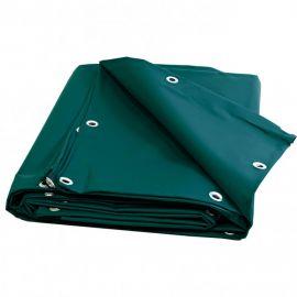 Bâche 5 X 8 verte PVC 680g garantie plus de 10 ans