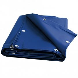 Bâche 4 x 6 m bleue PVC 680g - 6 x 4m - garantie plus de 10 ans