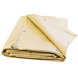 Bâche speciale pergola et tonnelle 4.10 x 3.10 m IVOIRE Haute protection UV avec Oeillets