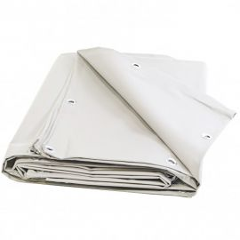 Bâche blanche 8 x 10 m PVC 680g - garantie plus de 10 ans