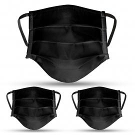 Lot de masque en tissu noir